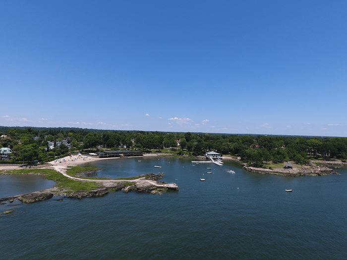 Ariel view of Larchmont Manor Beach in Larchmont, NY