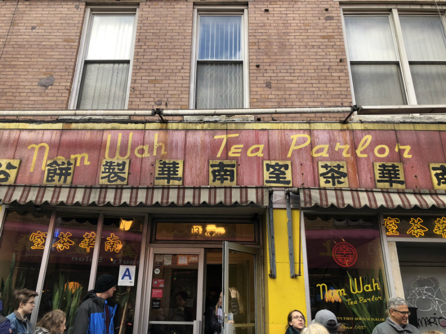 Eating dim sum in Chinatown at Nom Wah Tea Parlor