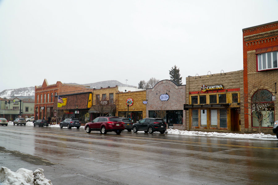 Hanging out in downtown Steamboat Springs, CO