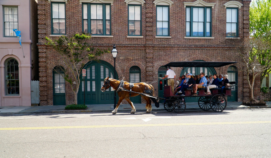 A carriage ride in Charleston is a quintessential activity for a Charleston getaway