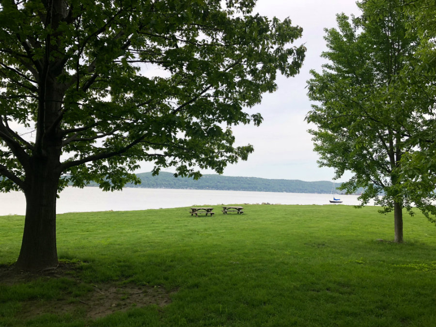 A day out in Matthessien Park in Irvington, NY in Westchester County with views of the Hudson River
