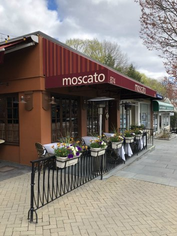 Shopping in the village of Scarsdale in Westchester County, NY