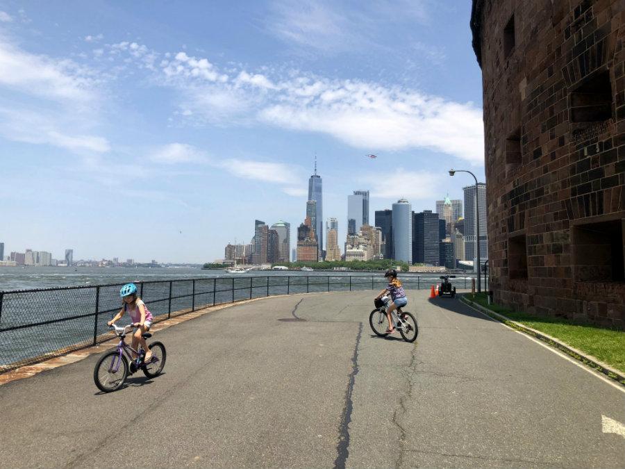 Biking on Governors Island