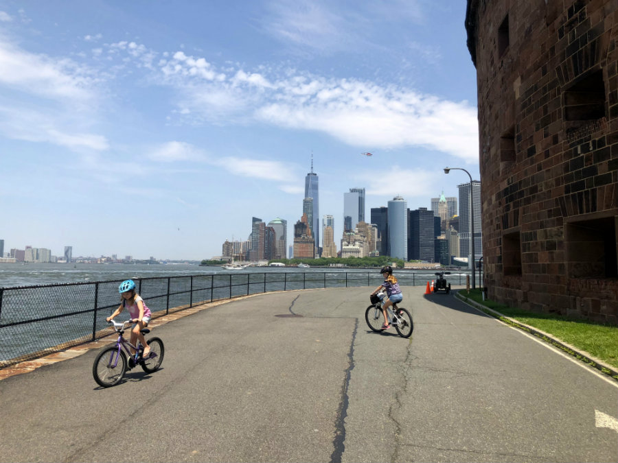 Biking on Governors Island