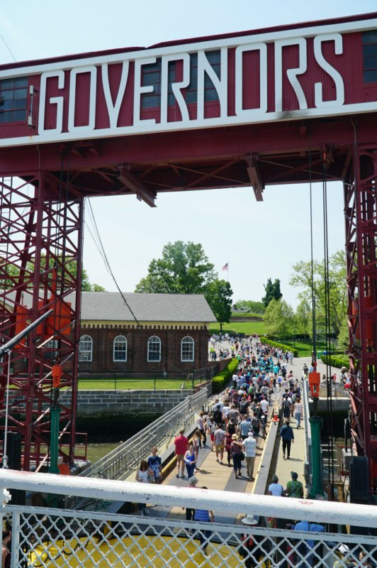 Ferry landing at Governors Island in New York City