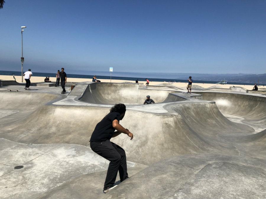 Venice Beach with kids, Venice Skate Park