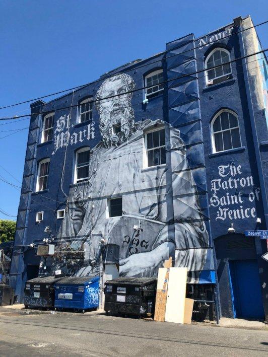 Venice Beach wall mural