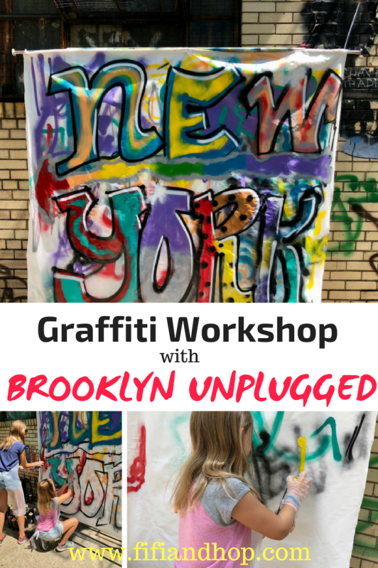 Brooklyn Graffiti art workshop with Brooklyn Unplugged Tours