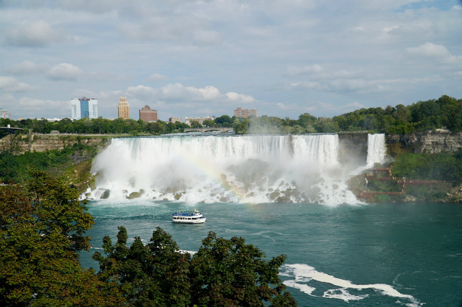 View of the American Falls at Niagara Falls