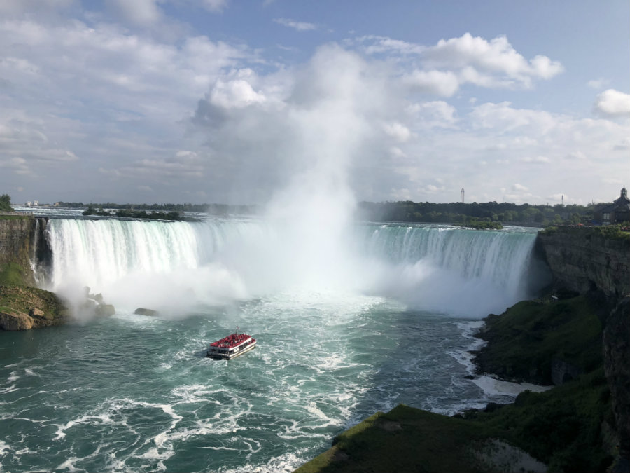 View of the Hornblower Cruise at Horseshoe Falls