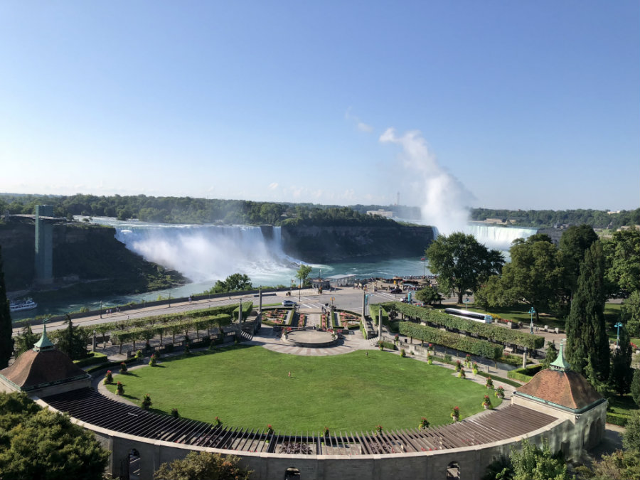 View of Niagara Falls from the Sheraton on the Falls in Canada