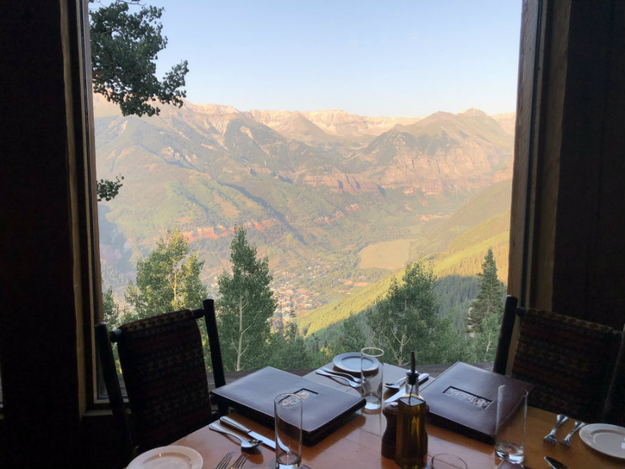 Drinks with a view at Allreds in Telluride