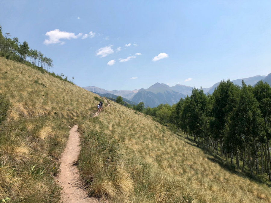 Telluride in summer, hiking the Jud Wiebe Trail
