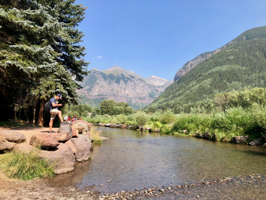 Telluride in summer, San Miguel River