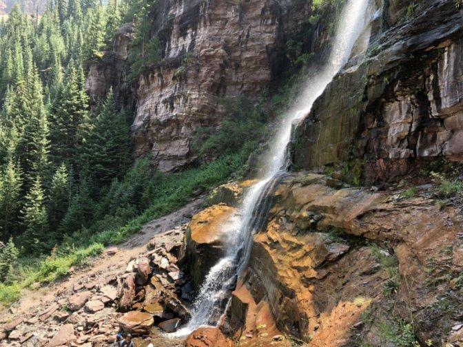 Hiking the bear Creek Trail in Telluride, CO
