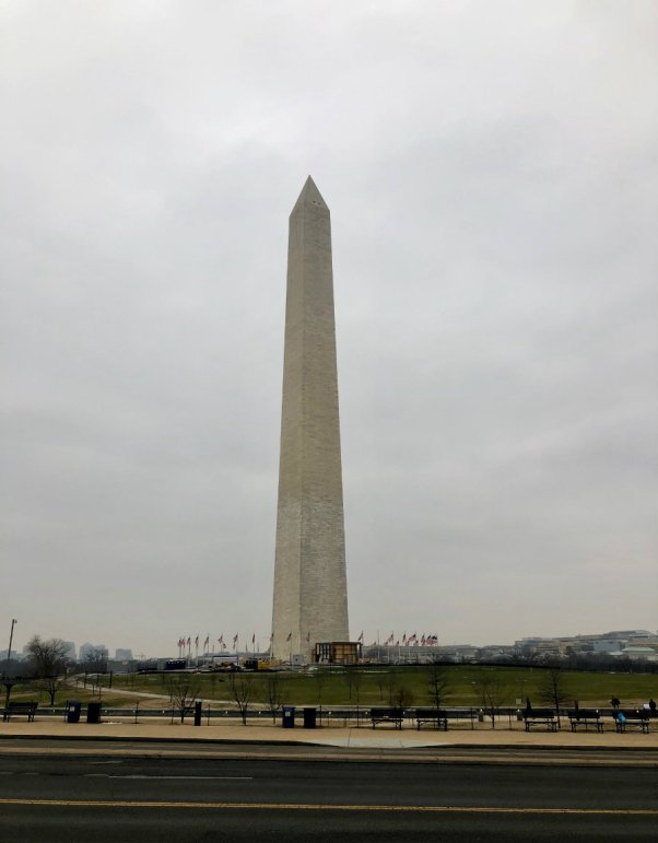 Visiting the Washington Monument in Washington D.C. when the government was shutdown