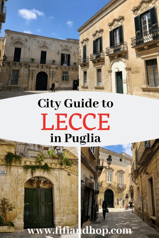 Guide to Lecce, Puglia