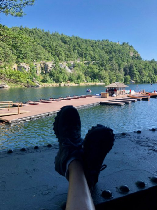 Relaxing at tea time at Mohonk Mountain House