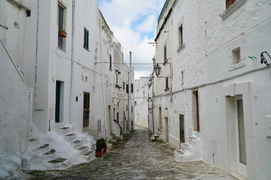 Walking the streets of Ostuni in Puglia