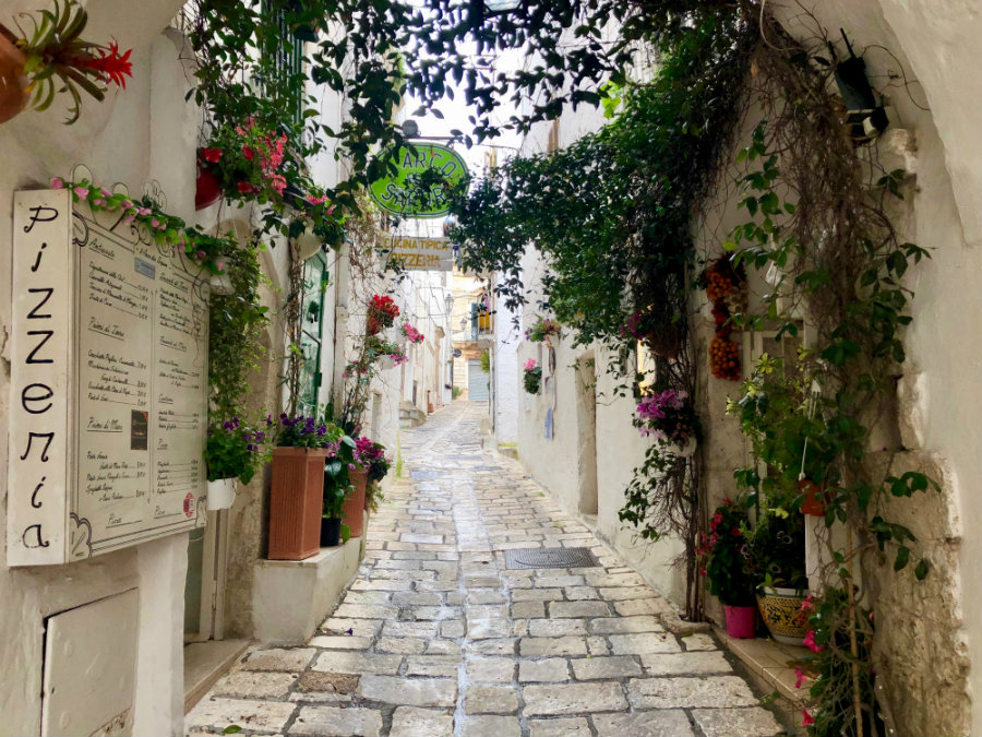 Walking through the streets of Ostuni Puglia