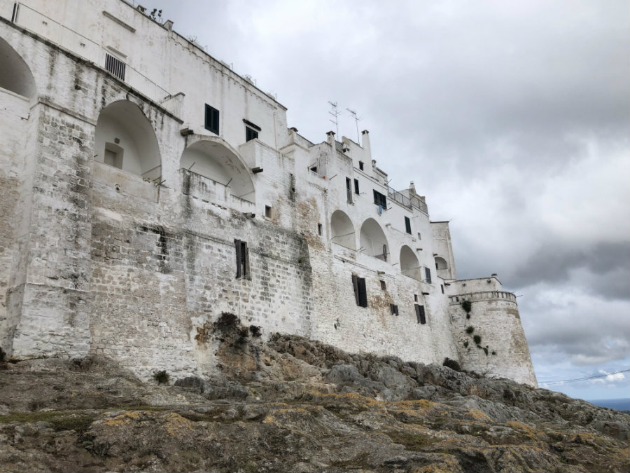 The fortress walls of Ostuni Puglia