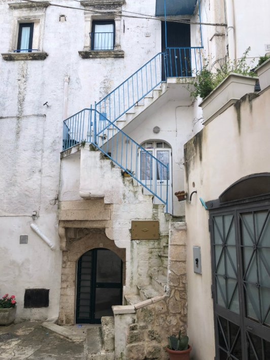 Blue staircase in Ostuni