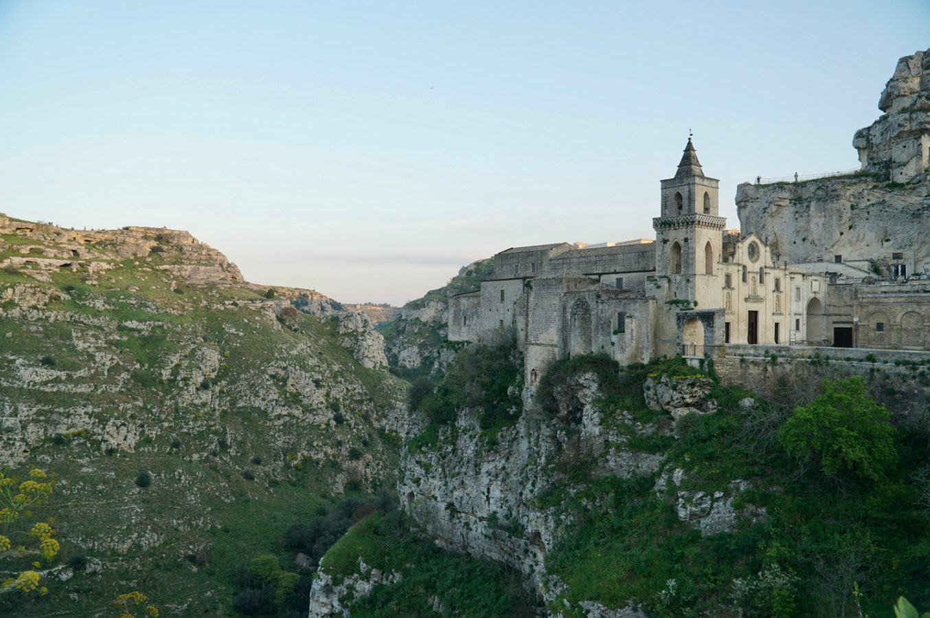 Rupestrian church in Matera Italy