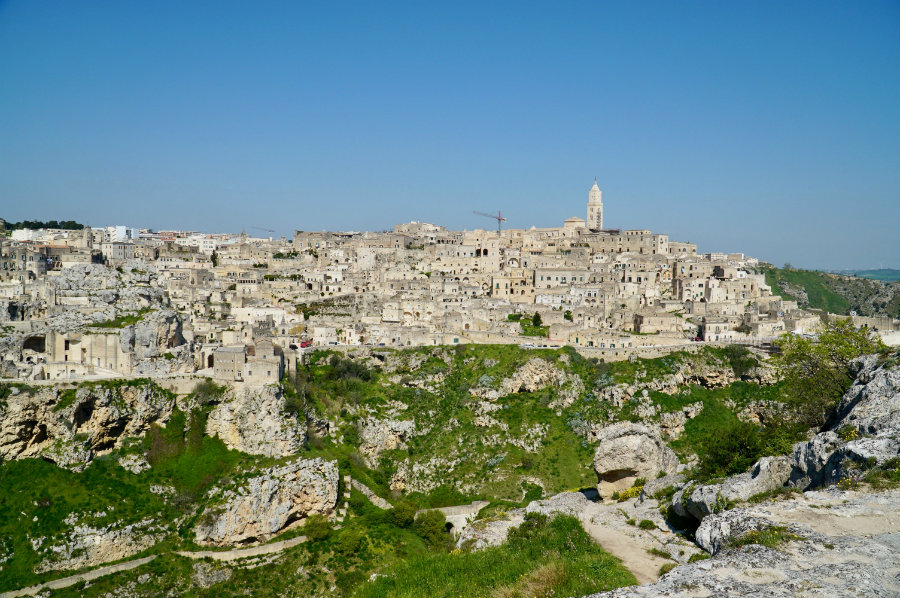View of Matera from Murgia National Park