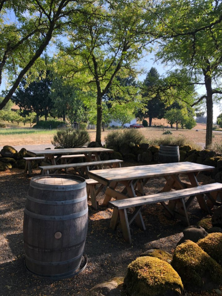 Outdoors at Grochau Wine Cellars in the Willamette Valley