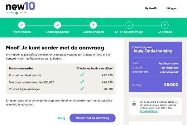 ABN new10 zakelijk krediet aanvragen