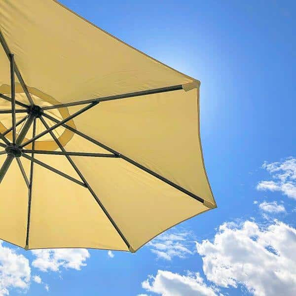 parasol sun blue sky garden sunscreen