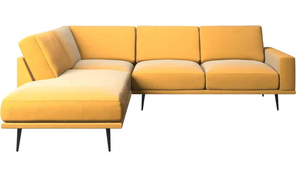 Boconcept CArlton sofa with lounging units mustard