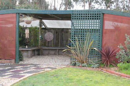 The garden outside the fernery will be turned into a herb garden
