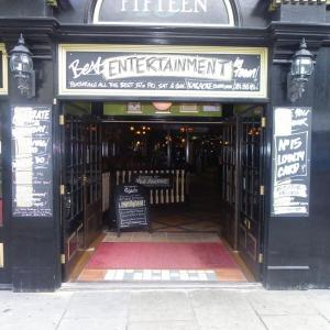 Fifteens Doncaster pub front door open