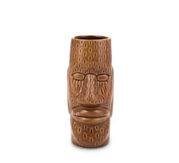 Ku Easter Island Head Ceramic Tiki Mug (450 ml) Fifth & Vermouth Front View