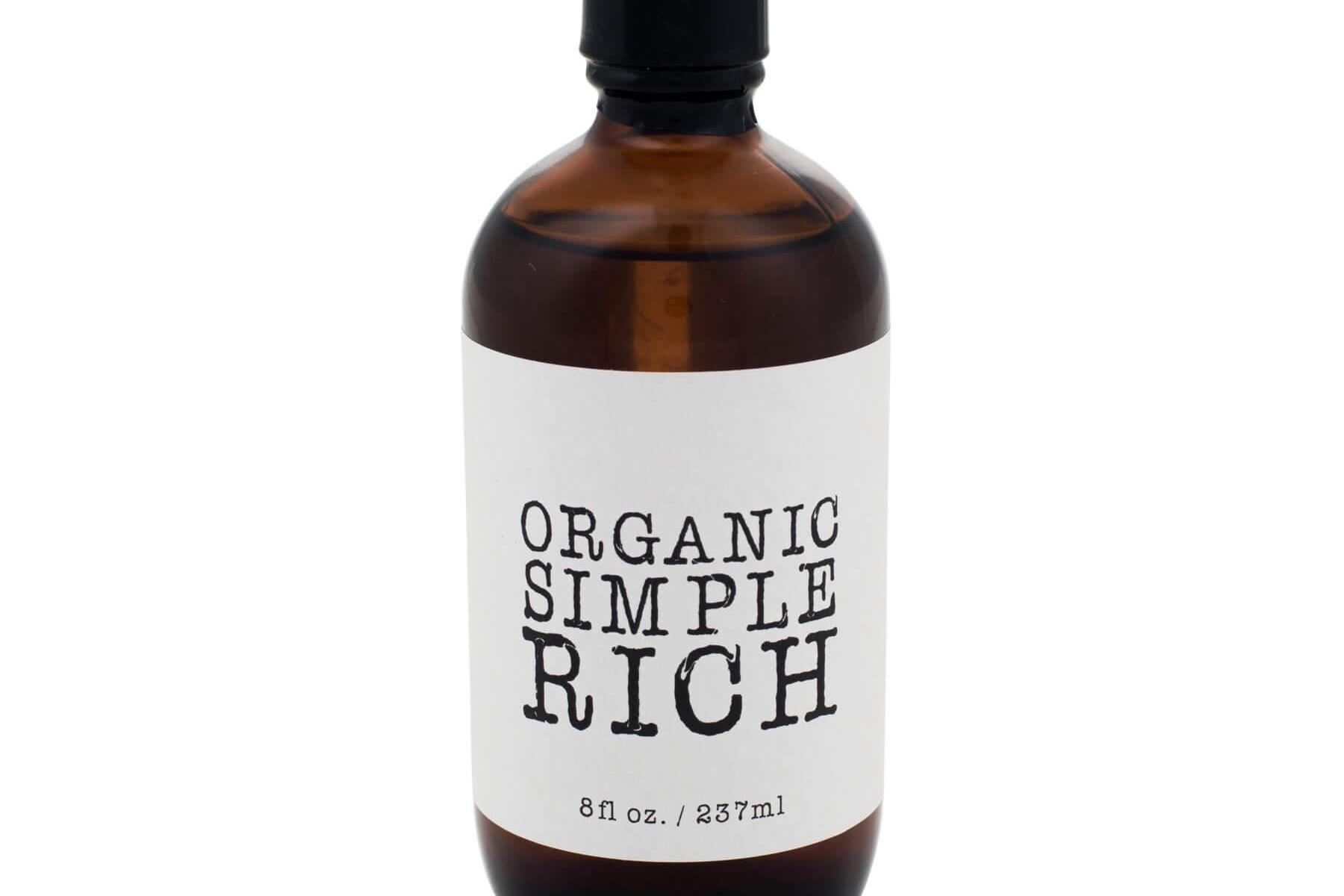 Organic Rich Simple Syrup Natural Cane Sugar