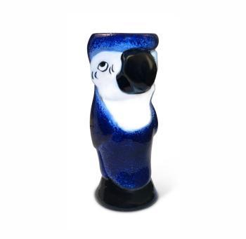 Polly Parrot Ceramic Tiki Mug Blue 3 - Fifth & Vermouth