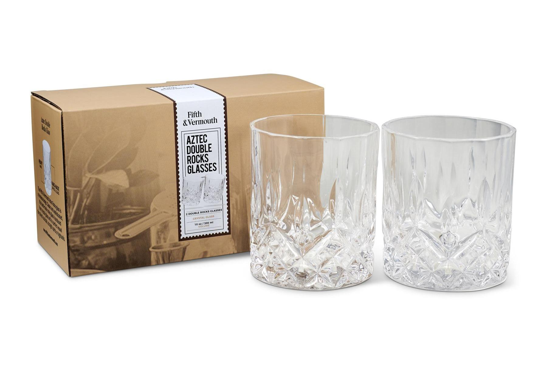 Aztec Double Rocks Glass Set 10 oz with Packaging - Fifth & Vermouth