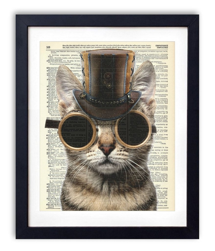 Steampunk Cat Upcycled, check it out on amazon amzn.to/29vsUUk