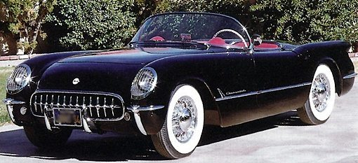 1950s Cars   Chevrolet   Photo Gallery   Fifties Web 1954 Chevy Corvette
