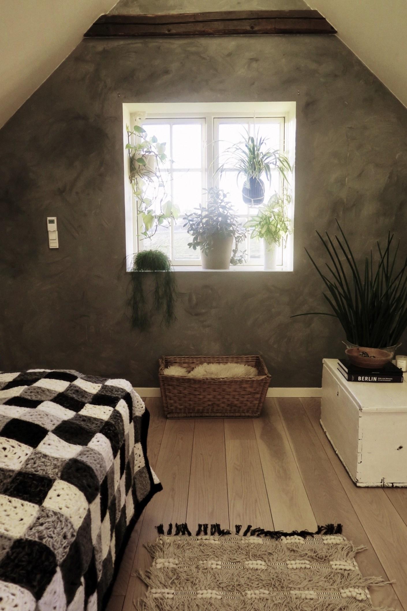 malet væg i beton-look