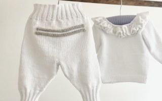strikkede babybukser