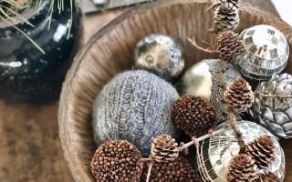 strikkede julekugler