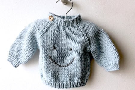 smiley babysweater