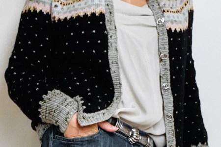 strikket cardigan