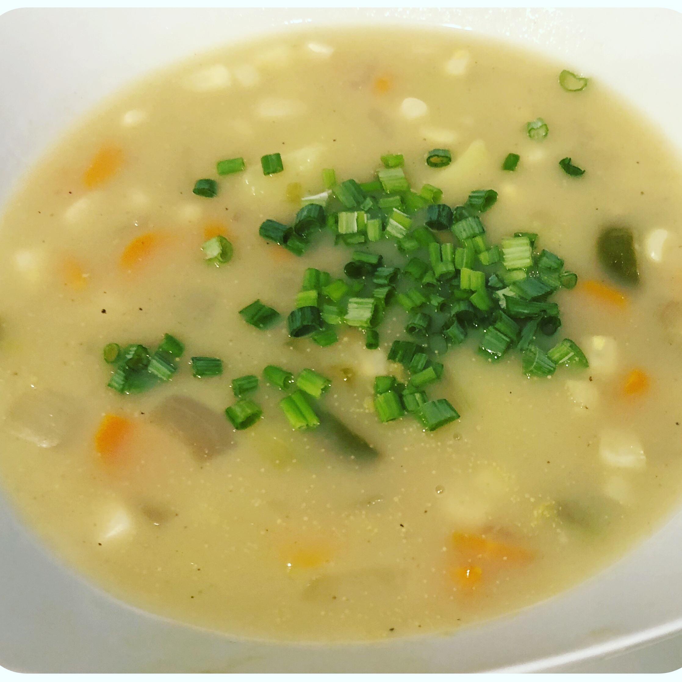 Cheater Vegan Potato Leek Soup