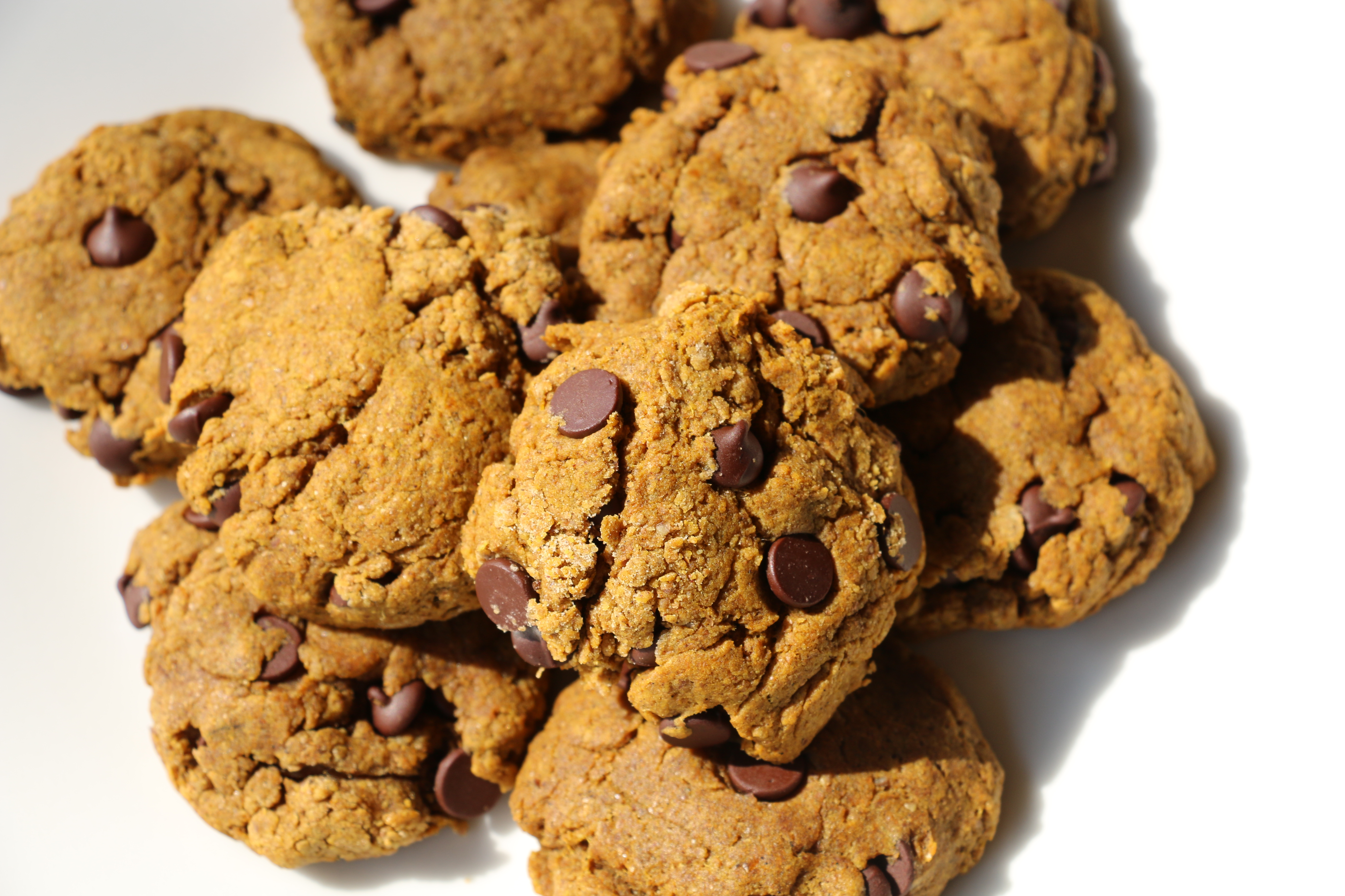 Vegan Sugar Free Chocolate Chip Cookies