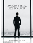 The first official movie poster of Christian Grey overlooking Seattle