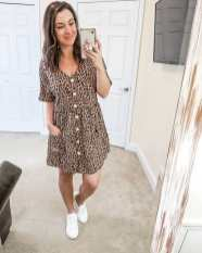 Leopard is my spirit animal - true story. ?? * * This leopard cutie is now available in one of my favorite style dresses I found last summer. Reasons I love it - the style is super comfy and flattering, you can dress it up or down, it's under $25, and did I mention leopard? ????? * Everything linked in my shopstyle profile! ?? * * #springlook #feelingfierce #leoparddress #springbreakstyle #founditonamazon #figandrosesstyle #figandrosesblog #dressandsneakers #aexme #daylightsavingsiscoming