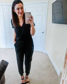 Just found - THE jumpsuit for summer!! I'm so excited to share this find. It's AMAZING, comfy, fits TTS and comes in under $27 with free shipping of course. It also is available in 5 pretty colors! * It's perfect for the transitional weather with a jacket and sneakers, and can be dressed up and down so easily. The torso is the perfect length on me (I have a longer torso). It has a button on the top for extra coverage and has a tie waist. Get it before it's gone - I predict this one to be a huge seller! * Shop via my shopstyle (link in bio): Jumpsuit (https://shopstyle.it/l/beqqK) Entire look (https://shopstyle.it/v/JLZ) * #casualmomlook #jumpsuit #founditonamazon #mymomstyle #figandrosesstyle #figandrosesblog #fashionblogger #igstyle #springstyle2020 #springbreak #mycasuallook #styleblogger #fashionover30 #vacaystyle #pittsburghbloggerbabes #pittsburghpa